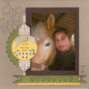 carte stampin up avec photo