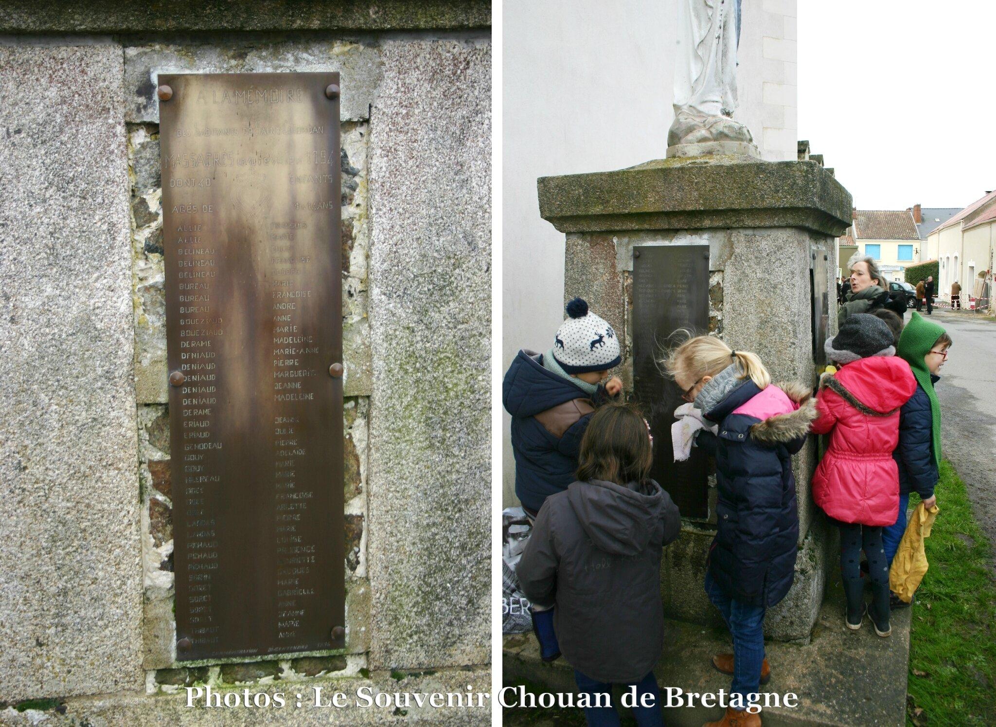 Saint-Colomban, hommage aux victimes du 10 février 1794