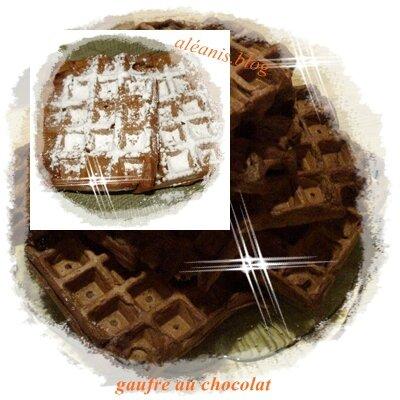 détournement de gaufre nature au chocolat ^^