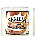 Pumpkin vanilla marshmallow, bath and body works