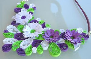 collier quilling blanc mauve anis 2