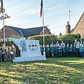 Elvington ceremonie du souvenir 13 novembre 2016