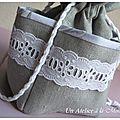 Couture : le petit pochon romantique.