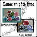 90. Canes en pte fimo