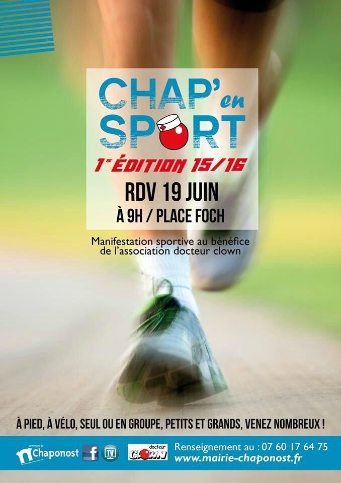 - Chap'en sport c'est dimanche 12 février à 9h place Foch à Chaponost.