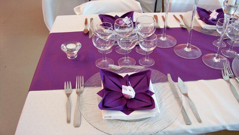 D co salle repas mariage la fabrique cr ative d 39 h l ne - Decoration de serviette pour mariage ...