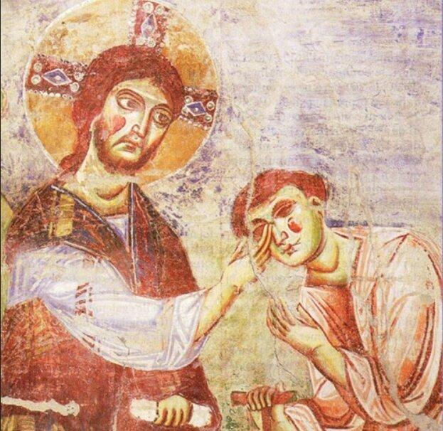 main gauche et droite du Christ