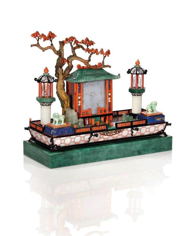 n cessaire de bureau art d co jardin japonais par cartier alain r truong. Black Bedroom Furniture Sets. Home Design Ideas