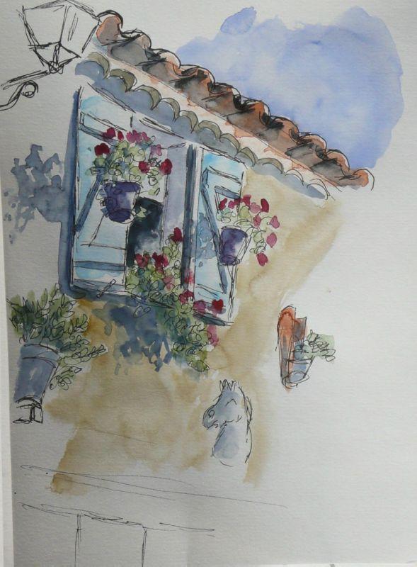 13-Les Saintes Maries de la Mer - rue Marcel Cerdan (fenêtre)
