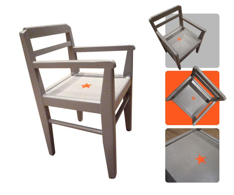 chaise gris-orange