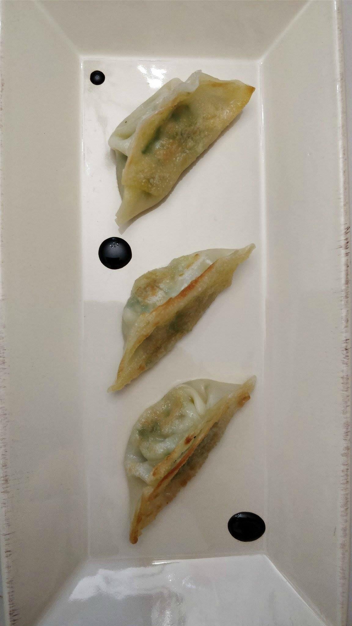 Gyozas au saumon et épinard
