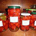 Conserves tomates au vinaigre