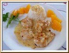 0188 - coquilles saint jacques au beurre d'orange
