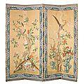Paravent à quatre feuilles, france, xviiie siècle