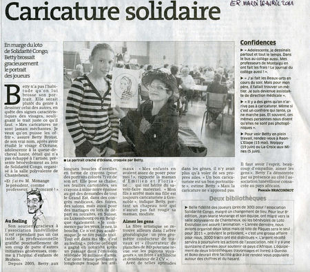 Caricaturiste Solidarité Congo