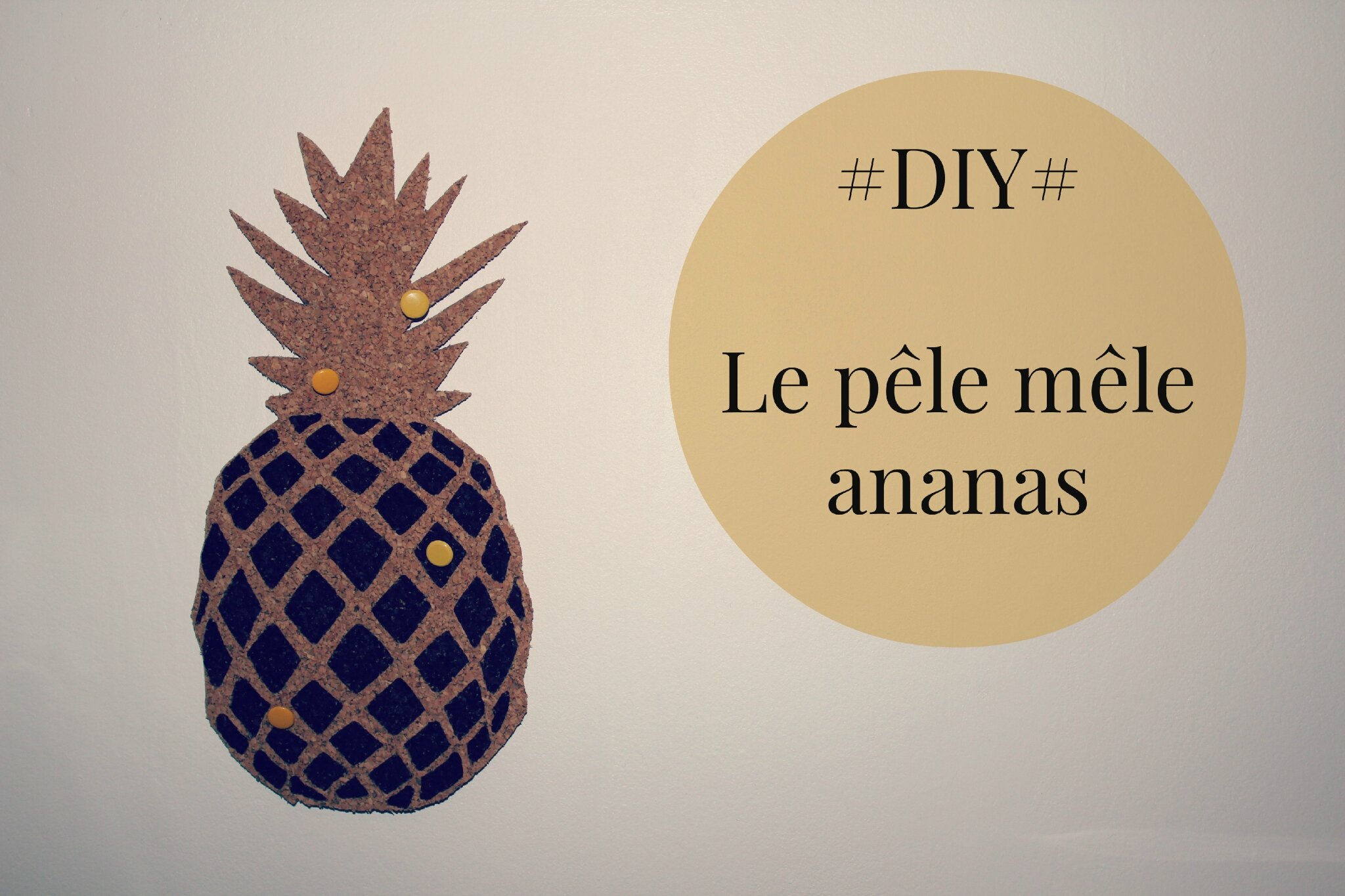 diy le p le m le ananas blog d coration diy photographie made by mademoiselle. Black Bedroom Furniture Sets. Home Design Ideas