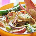 Curry doux de homard et asperges .