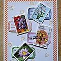 Amitié timbrée - challenge oh les belles cartes !