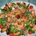 Salade du pêcheur............... à pieds !!!