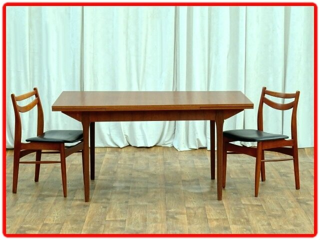 table de repas teck design scandinave