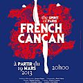 French cancan, grand moment de danse parisienne au palace