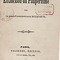Louis napoléon et l'extinction du paupérisme