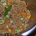 Taboulé aux fèves fraîches