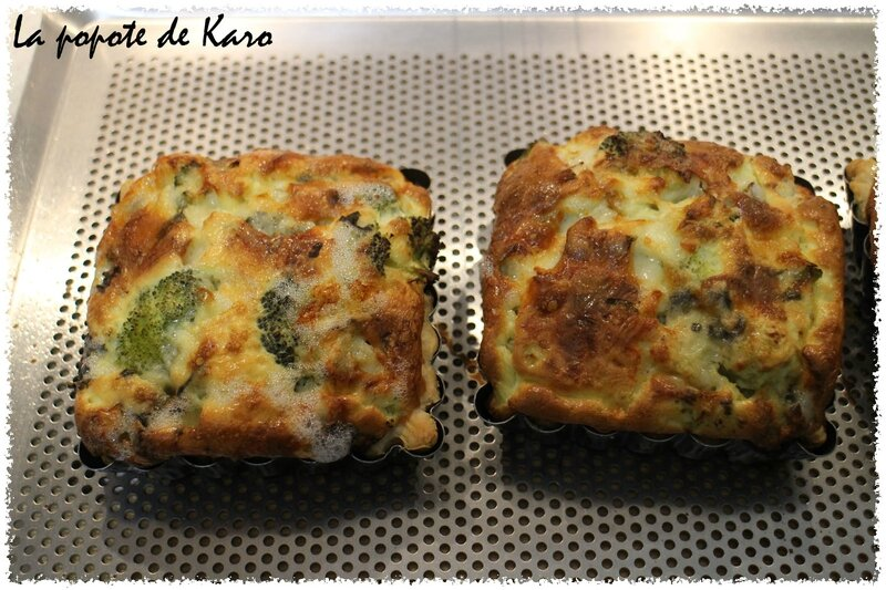 Quiches brocolis roquefort
