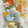 Lê phổ (1907-2001), still life with flowers