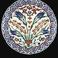 A large iznik polychrome pottery dish, turkey, circa 1575