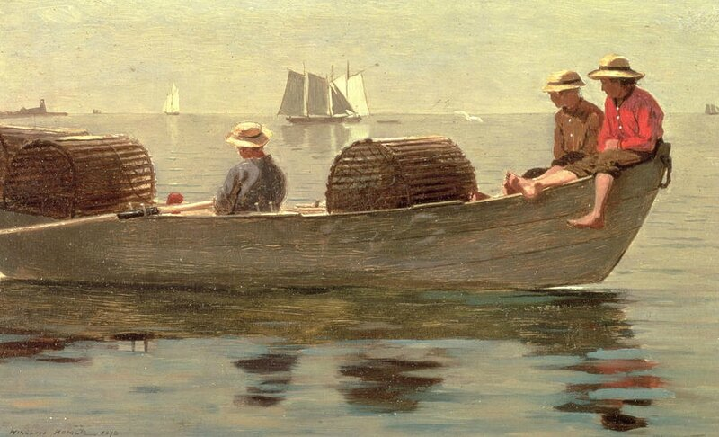 three-boys-in-a-dory-winslow-homer
