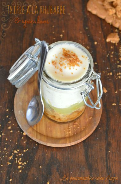 rhubarbe compotée vanille trifle speculoos
