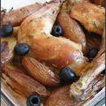 Poulet au citron avec ses pommes de terre aux olives et au romarin