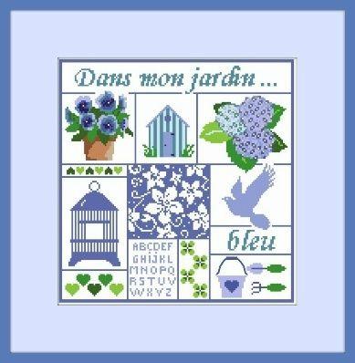 jardin bleu cadre