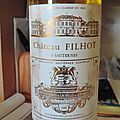 Chateau filhot 1988 sauternes 2nd cru classé