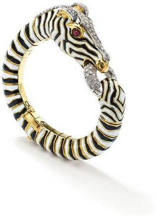 A_diamond_ruby_enamel_zebra_bangle