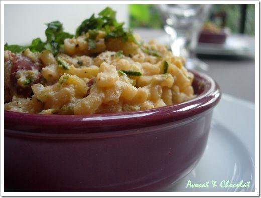 Risotto de coquillette au chorizo, courgette et ricotta (5)