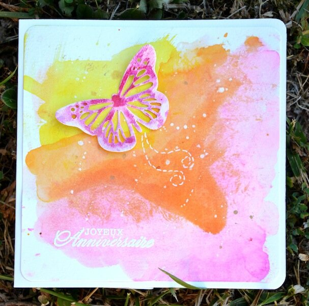 MIS Summer Scrap Cocktail Sangria 2016 - Carte d'anniversaire Lily - Juillet 2016