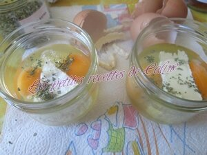 Oeufs cocotte, camembert, persillade08