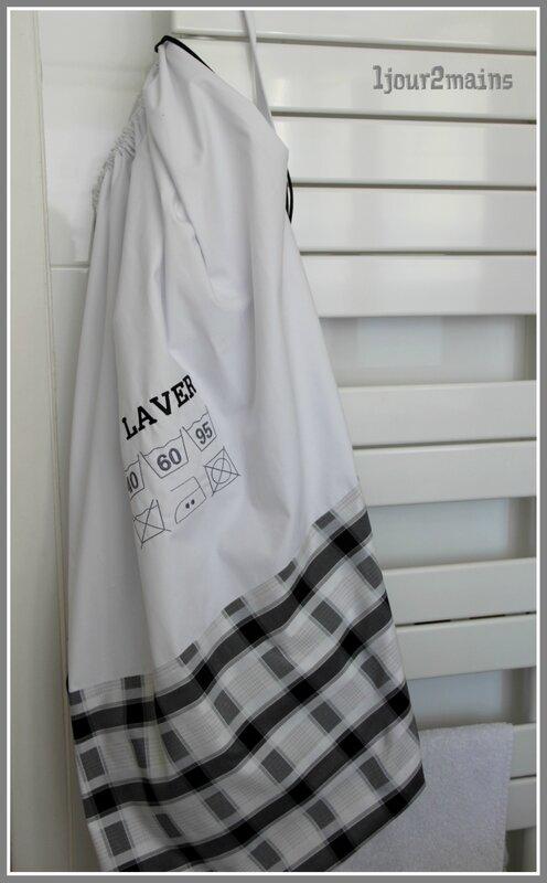 sac a linge a laver noir