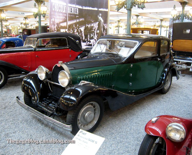 Bugatti type 49 berline de 1934 (Cité de l'Automobile Collection Schlumpf à Mulhouse) 01