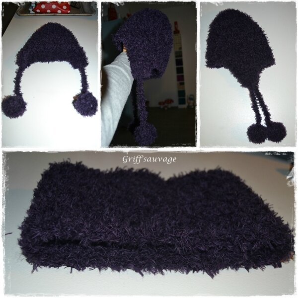 snood et bonnet violet1