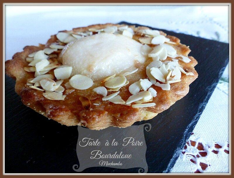 Tartelettes Poires Bourdaloue.......