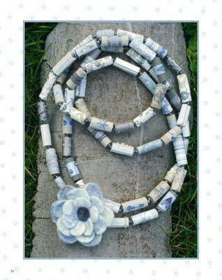 collier perles de tissu