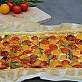 Tarte bicolore aux tomates cerises