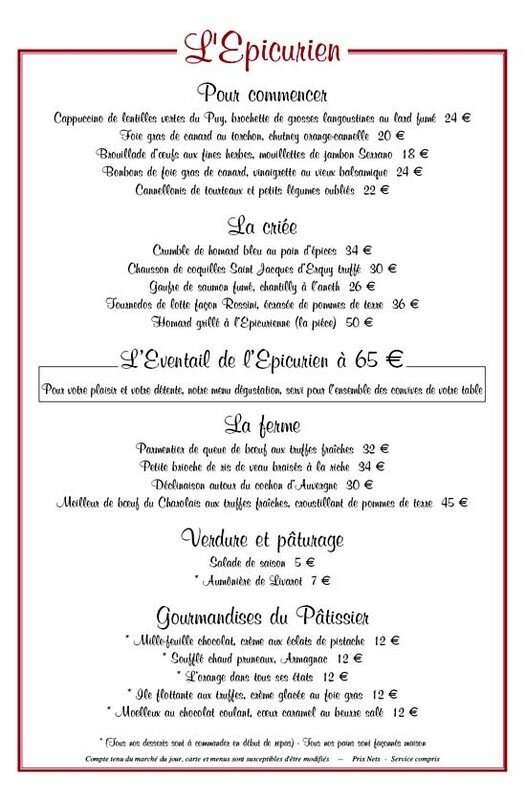 Collection De Menus De Restaurant