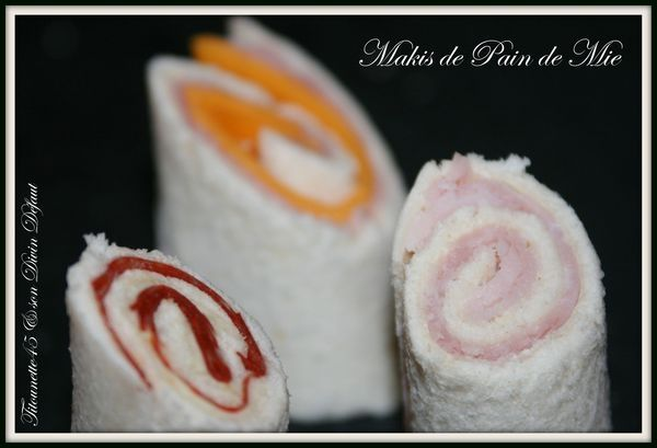 Makis de pains de mie
