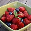 Salade de fruits rouges au sirop de verveine