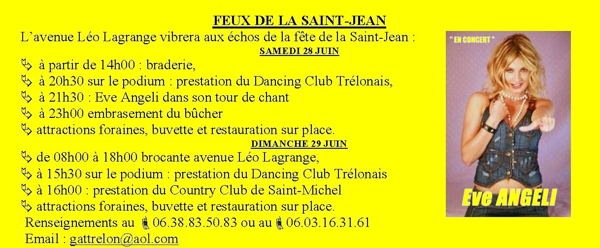 TRELON Feux de la Saint Jean 2014