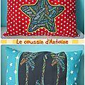 Coussin personnalisé Antoine